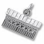 Rembrandt Charms Covered Bridge Charm - Sterling Silver