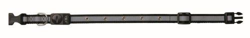 Trixie Flash Halsband, S-M: 30-40 cm/15 mm, schwarz
