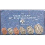 1991 US MINT P & D COIN SET UNCIRCULATED UNC