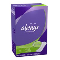 Always CleanWeave Pantiliners Long/ Unscented-40/12Pk