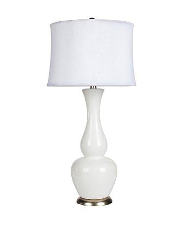 Surya Maine Table Lamp, Ivory White