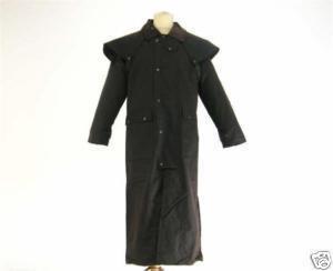 Campbell Cooper Australian Long Stockmans Wax Cotton Jacket - Black - Medium