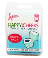 Happy Cheeks Disposable Toilet Seat Covers - 10 Covers front-20896