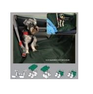 Heavy Duty REAR Seat Cover Protector great for dogs with Pets on the Move Logo motif.