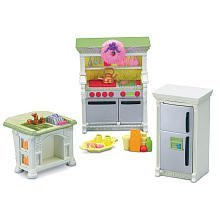 Free Standing Refrigerator With Opening Door. - Fisher-Price Loving Family Dollhouse Kitchen