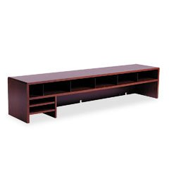 Safco Products 58-Inch W Low Profile Desk Top Organizer, Mahogany (3671MH)