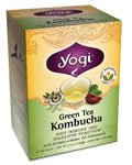 Yogi Teas / Golden Temple Tea Co Green Tea Kombucha, Kombucha 16 Bags