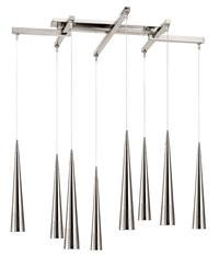 Access Lighting 52058-BRZ Apollo 8 Light Single Tier Chandelier in Bronze