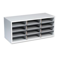 FEL25004 12-Section Compartment Sorter, Melamine Laminated, Dove Gray - Buy FEL25004 12-Section Compartment Sorter, Melamine Laminated, Dove Gray - Purchase FEL25004 12-Section Compartment Sorter, Melamine Laminated, Dove Gray (Fellowes, Office Products, Categories, Office Supplies, Desk Accessories)