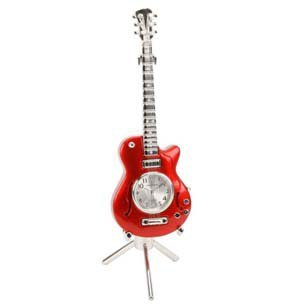 miniature-ornamental-guitar-novelty-red-tone-collectors-clock-on-stand-9029