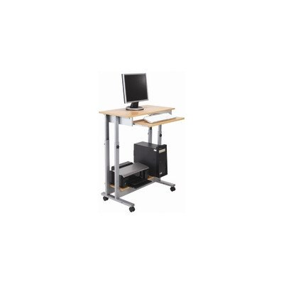 102 cm Standing Desk with Keyboard Tray Colour: Oak