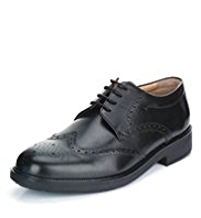Airflex™ Leather Extra Wide Fit Derby Brogue Shoes