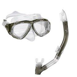 Speedo Adult Recreation Mask/Snorkel Set, Smoke