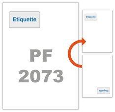 Etiquette intégrée - 1000 feuilles étiquette intégrée 85x45mm pour BL, facture ...