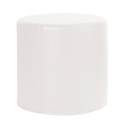 Howard Elliott Q851-944 Atlantis No Tip Cylinder Ottoman, White