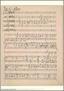 Johannes Brahms Music Manuscript Poster Motet, Es Ist Das Heil Uns Kommen Her, Op. 29, No. 1 for Chorus