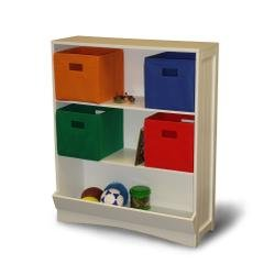 RiverRidge Kids Bookcase With Veggie Bin, 2 Shelves, White