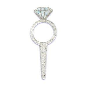 Amazon.com : DIAMOND Engagement RING Wedding Bridal SHOWER Glittery