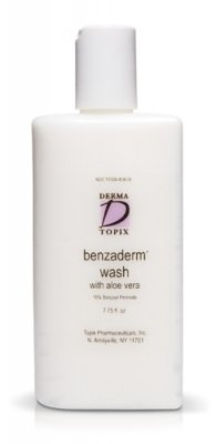 Topix Benzoyl Peroxide 10% Wash with Aloe Vera 7.75 oz. bottle