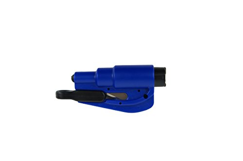 Car Window Breaker & Seat Belt Cutter 2-in-1 Car Emergency Escape Tool (Navy Blue)