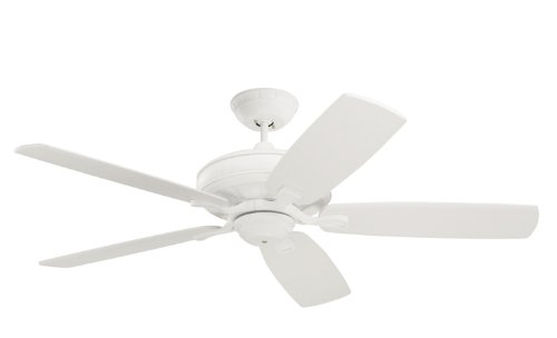 Emerson Ceiling Fans CF788SW Carrera Grande Eco Indoor Outdoor Ceiling Fan With 6-Speed Wall Control, Energy Star And Damp Rated, Blades Sold Separately, Light Kit Adaptable, Satin White Finish (Hunter 50 Inch Ceiling Fan compare prices)