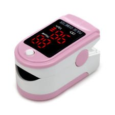 Acc U Rate (TM) Pulse Oximeter with Silicon Cover, Neck/Wrist cord and Batteries (Pink)