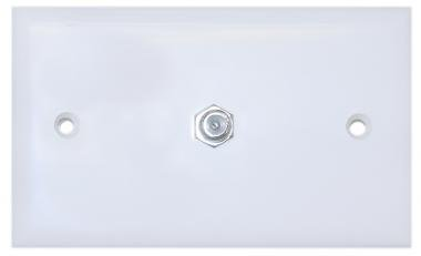 Cable Wholesale Tv Wall Plate With 1 F-Pin Coupler,White