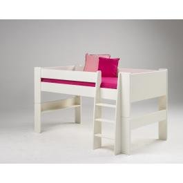 steens mid sleeper bunk bed in white mdf wood. Black Bedroom Furniture Sets. Home Design Ideas