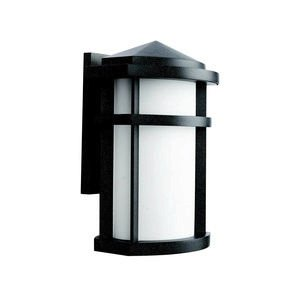 Kichler Lighting 9167GNT Lantana 1-Light Incandescent Outdoor Wall Mount Lantern, Granite with Etched Opal Glass