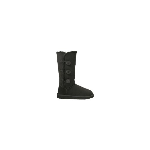 UGG Women's Bailey Button Triplet Boot Black Size 6
