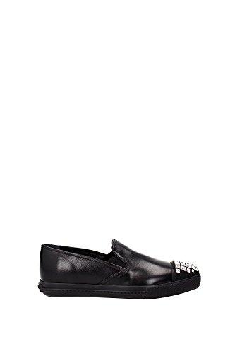 Sneakers Miu Miu Donna Pelle Nero 5S9990NERO Nero 36EU