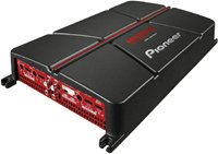 Pioneer GM-A6704 4-Channel Bridgeable Amplifier with Bass Boost ,Black/red
