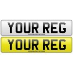 Front And Rear Number Plates - 100% UK Road Legal - MOT Compliant - DVLA Authorised Dealer