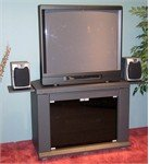 Cheap 4D Concepts Charcoal Home Entertainment TV Stand (B00592LWRO)