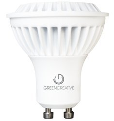 6.5 Watt - Led - Mr16 - Gu10 Base - 50 Watt Equal - 680 Candlepower - 3000 Kelvin - 80 Color Rendering - 38 Deg. Flood - Green Creative 95336