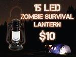 Zombie Emergency 15 Led Hurricane Lantern D Batteries