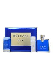 Gift Set Blu Pour Homme: Eau de Toilette 100 ml + Shower gel 75 ml +Eau de Toilette 15 ml Uomo
