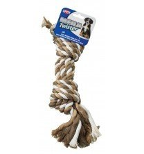Ethical Pet Products (Spot) Dso5423 Mega Twister Heavy 4-Rope Double Knot Dog Toy, 15-Inch