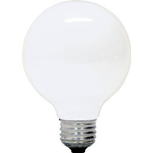 12 Pack 100 Watt G25 Medium E26 Base Globe Incandescent Light Bulb White 727908814972