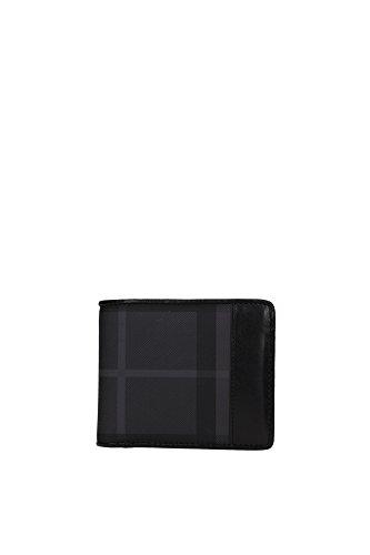 Portafogli Burberry Uomo Tessuto Nero 3546228 Nero 9.5x11 cmEU