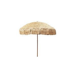 8 Foot Deluxe Tropical Island Thatched Umbrella - UPF 50+ Protection - Perfect for Tiki Bar, Beach, Patio, Deck, Garden, Restaurant, Cafe or Any Place You Want to Add a Tropical Touch Outdoors!