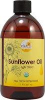 Esutras Organics Sunflower Oil, 16 Ounce