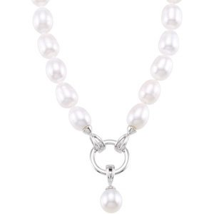 Sterling Silver Freshwater Cultured Pearl Strand Detachable Enhancer Pendant 8-8.5mm 8.5-9mm 18 Inch