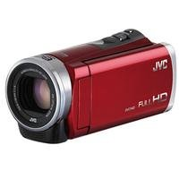 """JVC GZ-E300 Full HD Everio Camcorder, 40x Optical Zoom, 200x Digital Zoom, 3"""" LCD Touch Panel, CMOS Sensor, SC/SDHC/SDXC, 2.9-116 Focal Length, Red"""