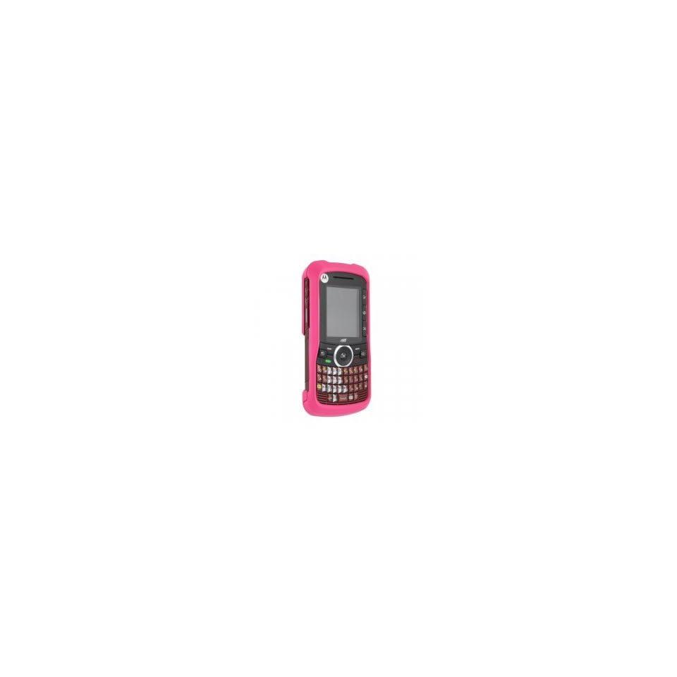 Motorola I465 Dark Pink Rubberized protective shield
