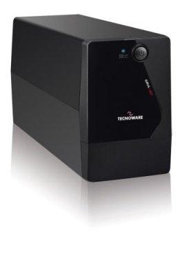 Tecnoware Era LED Interactive Unità di Continuità UPS, 650 VA, Monofase, Onda Pseudo-Sinusoidale, Batteria 4.5 Ah, Nero