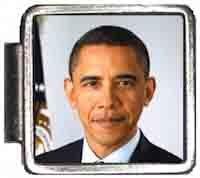 Obama Face Photo Italian Charm Bracelet Jewelry Link A10059