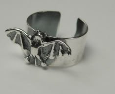 Sterling Silver Bat Ear Cuff