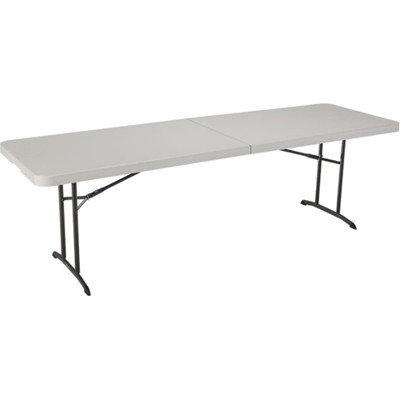 Lifetime Products Inc. 80175 Almond Fold-In-Half 8ft Utility Table