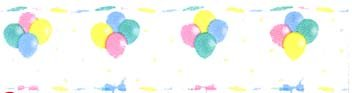 Pastel Balloons Border